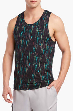 2(X)IST Jungle-Leaf Printed Urban-Jungle Tank Top