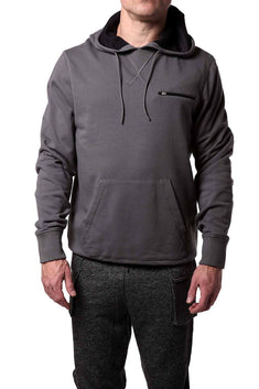 2(X)IST Lead-Grey/Black Two-Tone Lounge Hoodie