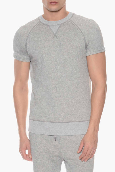 2(X)IST Light Heather Grey Crewneck Short Sleeve Sweatshirt