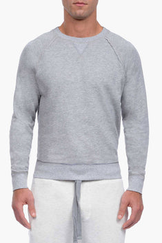2(X)IST Light Heather Grey French Terry Crewneck Sweatshirt
