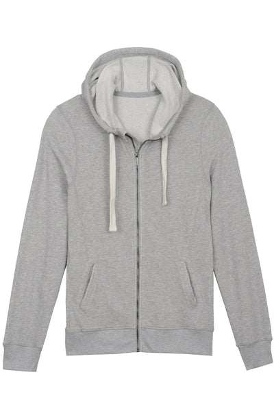2(X)IST Light Heather Grey French Terry Zip-Up Hoodie