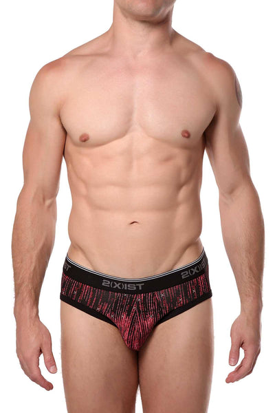 2(X)IST Matrix-Printed Essential Cotton-Stretch No-Show Brief - CheapUndies.com