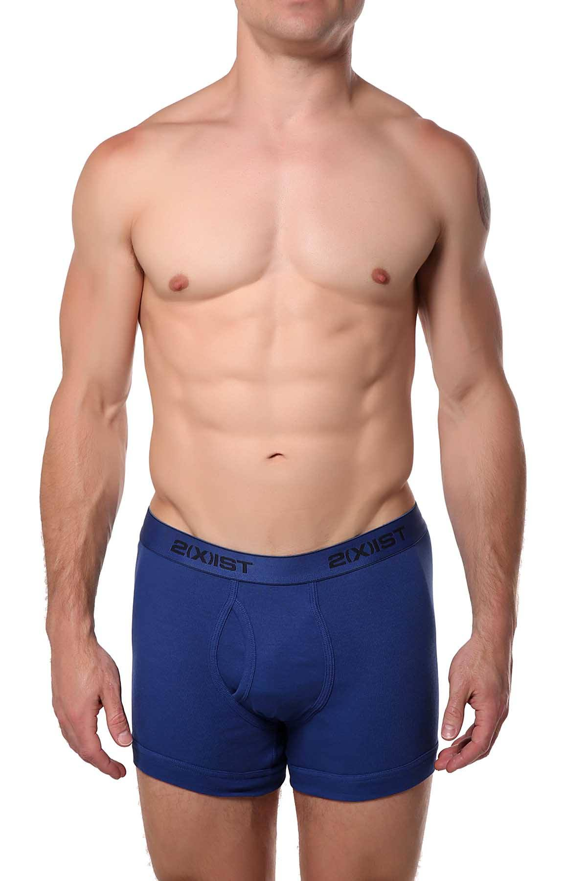 2(X)IST Monaco-Blue Essential Cotton Boxer Brief