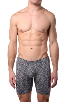 2(X)IST Navy Space Dye Sliq Micro Sport Boxer Brief