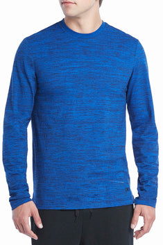 2(X)IST Royal-Heather Lounge Long-Sleeve Cotton T-shirt
