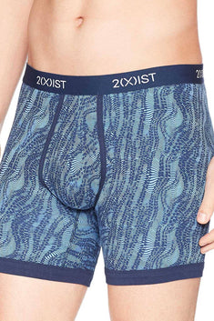 2(X)IST Varsity-Navy Digi-Zebra Print Graphic Cotton Boxer Brief