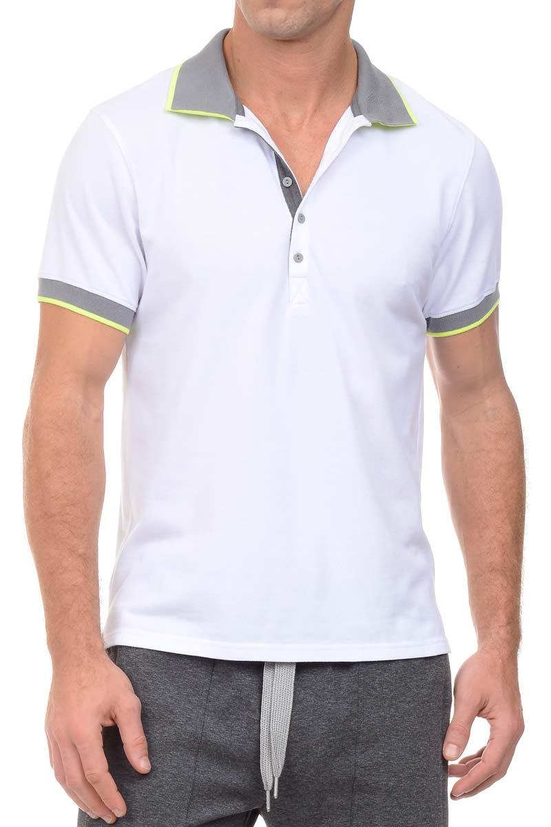 2(X)IST White Tipped Polo Shirt