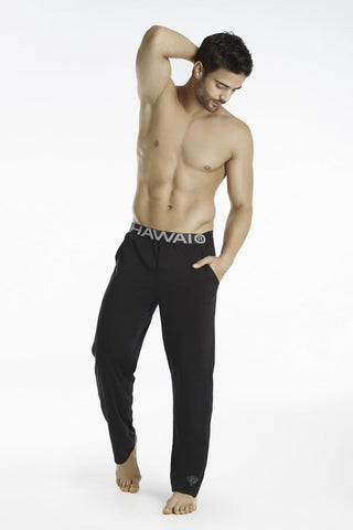 Hawai Black Slim Fit Pajama Pants