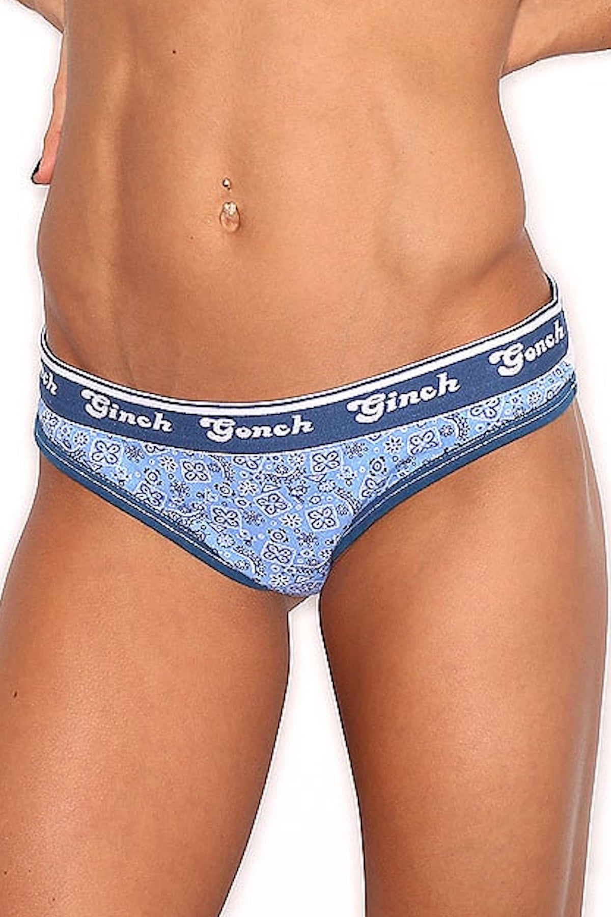 Ginch Gonch Blue Bandana Thong