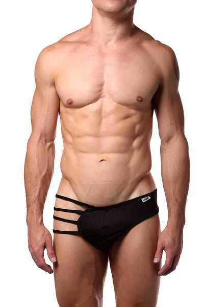 Candyman Black 4-String Thong - CheapUndies.com