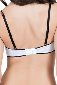 Affinitas White Nelly Unlined Wire Bra