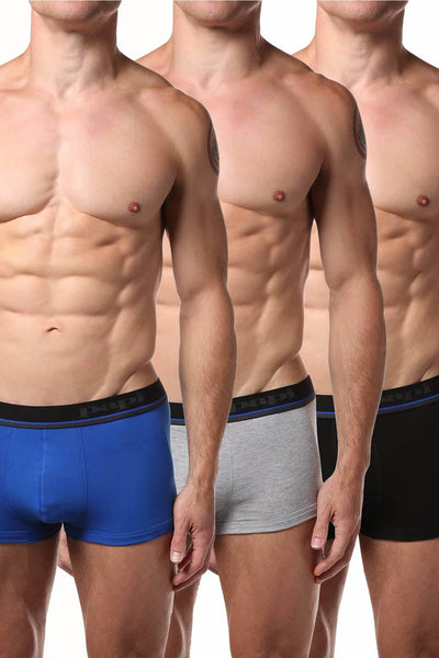 Papi Blue/Grey/Black Brazilian Trunk 3-Pack - CheapUndies.com