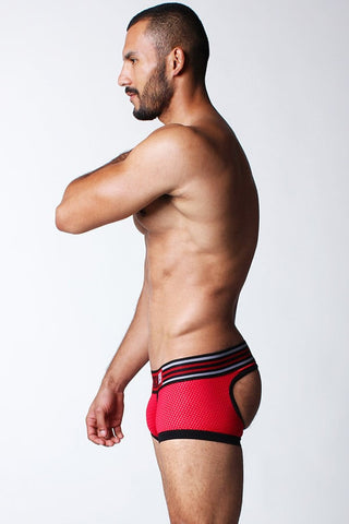Timoteo Red Gridiron Jock Trunk