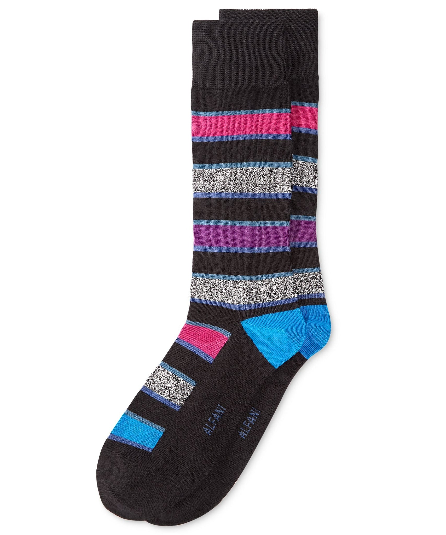 Alfani Pop Stripe Socks One Size - Boldberry