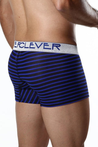 "Clever 7"" Black & Blue Stripe Boxer Brief"