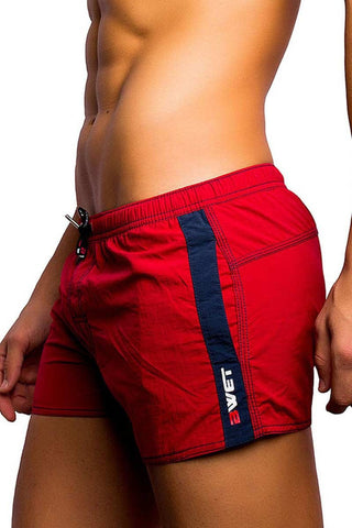 BWET Red Gordon Swim Shorts