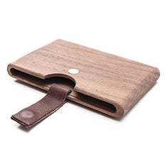 Something Strong Brown Walnut Wood Card Case