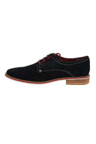 Giorgio Brutini Navy Suede Leather Oxford