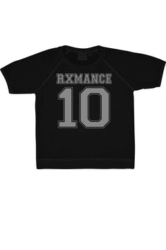 Rxmance Black Jersey Short Sleeve Sweatshirt
