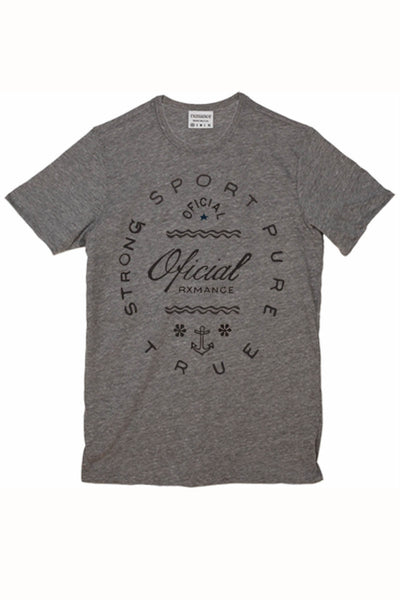 Rxmance Grey Oficial Crew Tee - CheapUndies.com