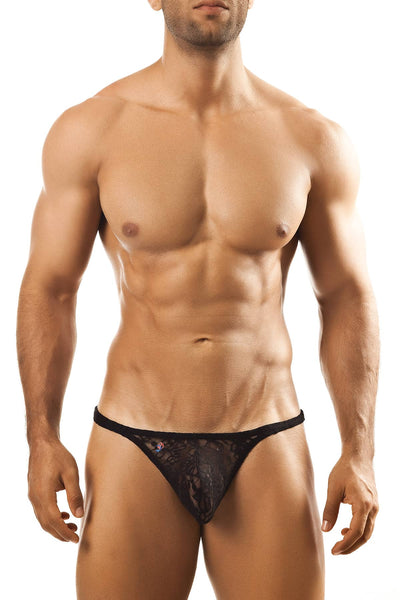 Joe Snyder Black Lace Tanga Thong - CheapUndies.com