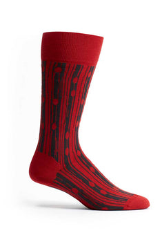 Ozone Red Bark Beetle Crew Sock