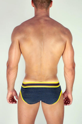 2EROS Navy Stripe Brief