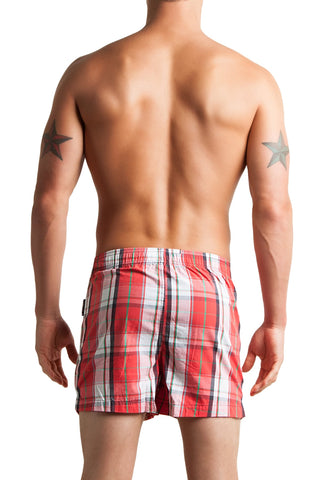 C-IN2 Remix Red Woven Plaid Boxer