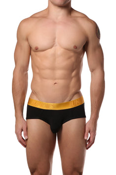 CheapUndies Black Metallic Brief