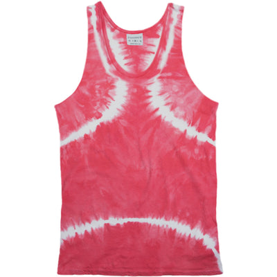 Rxmance Faded Red Tie Dye Tank Top - CheapUndies.com