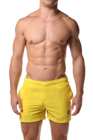 Datch Solid Yellow Gladiator Swim Short