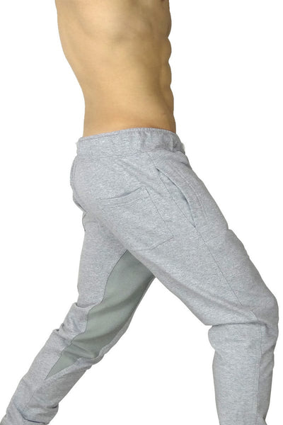 James Tudor Heather Grey Eaton Button Fly Sweat Pant