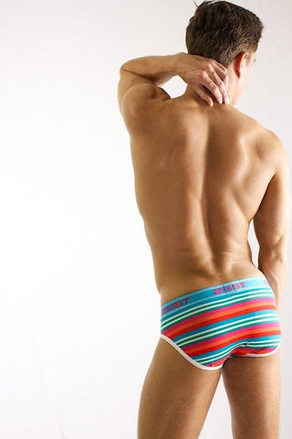 2(X)IST Paradise Stripe Print No-Show Brief