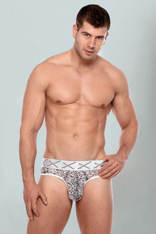 Expose Grey Low-Rise Sheer Brief - CheapUndies.com