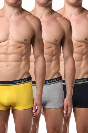 Papi Yellow/Grey/Navy Brazilian Trunk 3-Pack