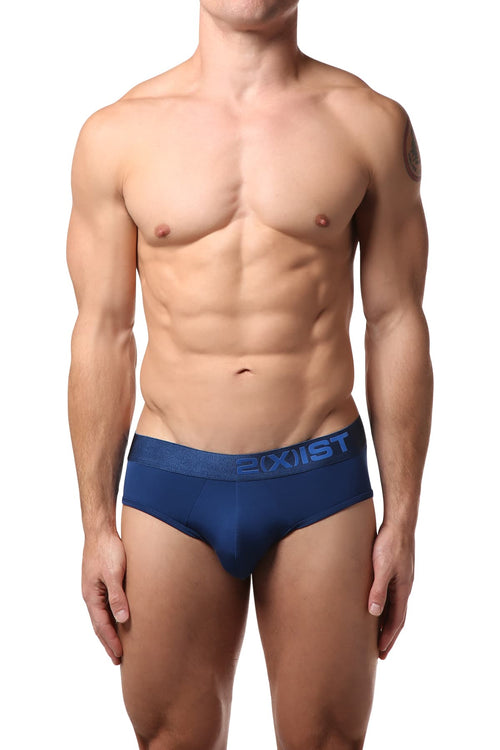 2(X)IST Estate Blue Electric Micro No-Show Brief - CheapUndies.com