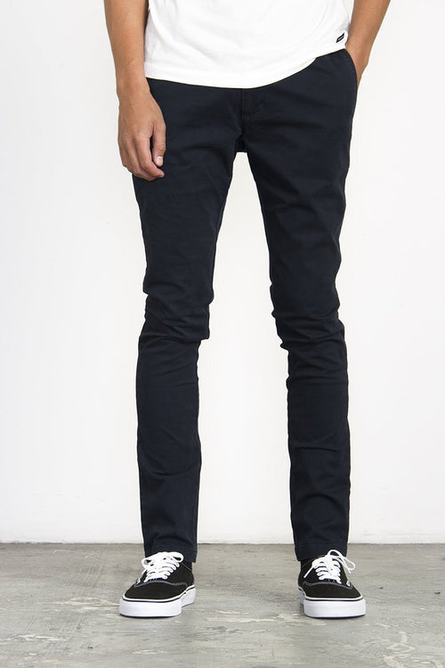 RVCA Stapler Twill Pant Carbon - CheapUndies.com
