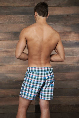 C-IN2 Grey Plaid Cocktail Swim Shorts