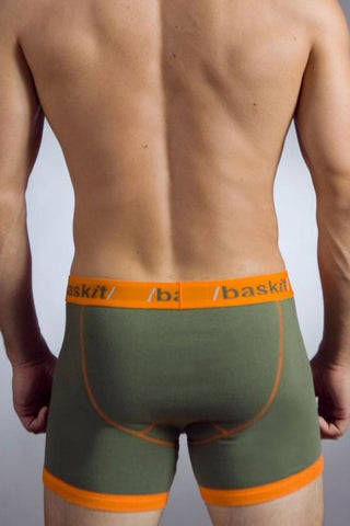 Baskit Green & Orange Contrast Boxer