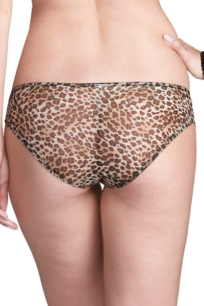 Affinitas Brown & Black Animal Print Brief
