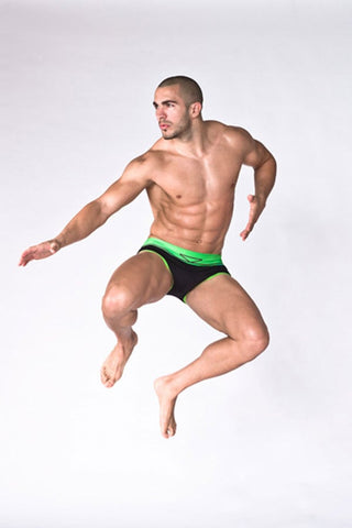 Skmpeez Black Zap Bandz Euroz Swim Brief