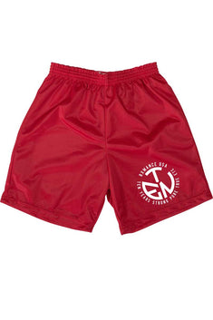 Rxmance Fire Red Circle Ten Mesh Short