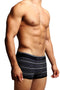 2-Pack Papi Grey Stripes Stretch Brazilian Trunks