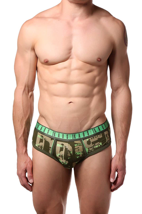 Diesel Olive-Green Rico Brief - CheapUndies.com