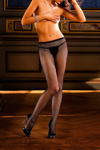 Baci Diamond Fishnet Pantyhose with Backseam