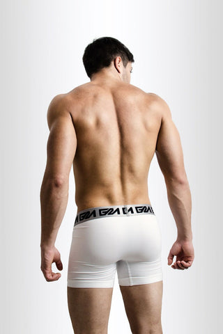 White Iconic Metallic Boxer Brief