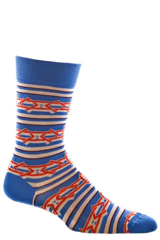 Ozone Blue Chain Reaction Crew Sock