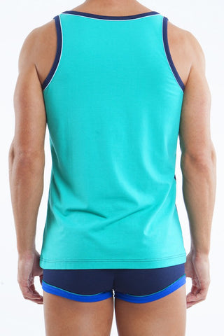 Papi Blue & Green Luxe Tank