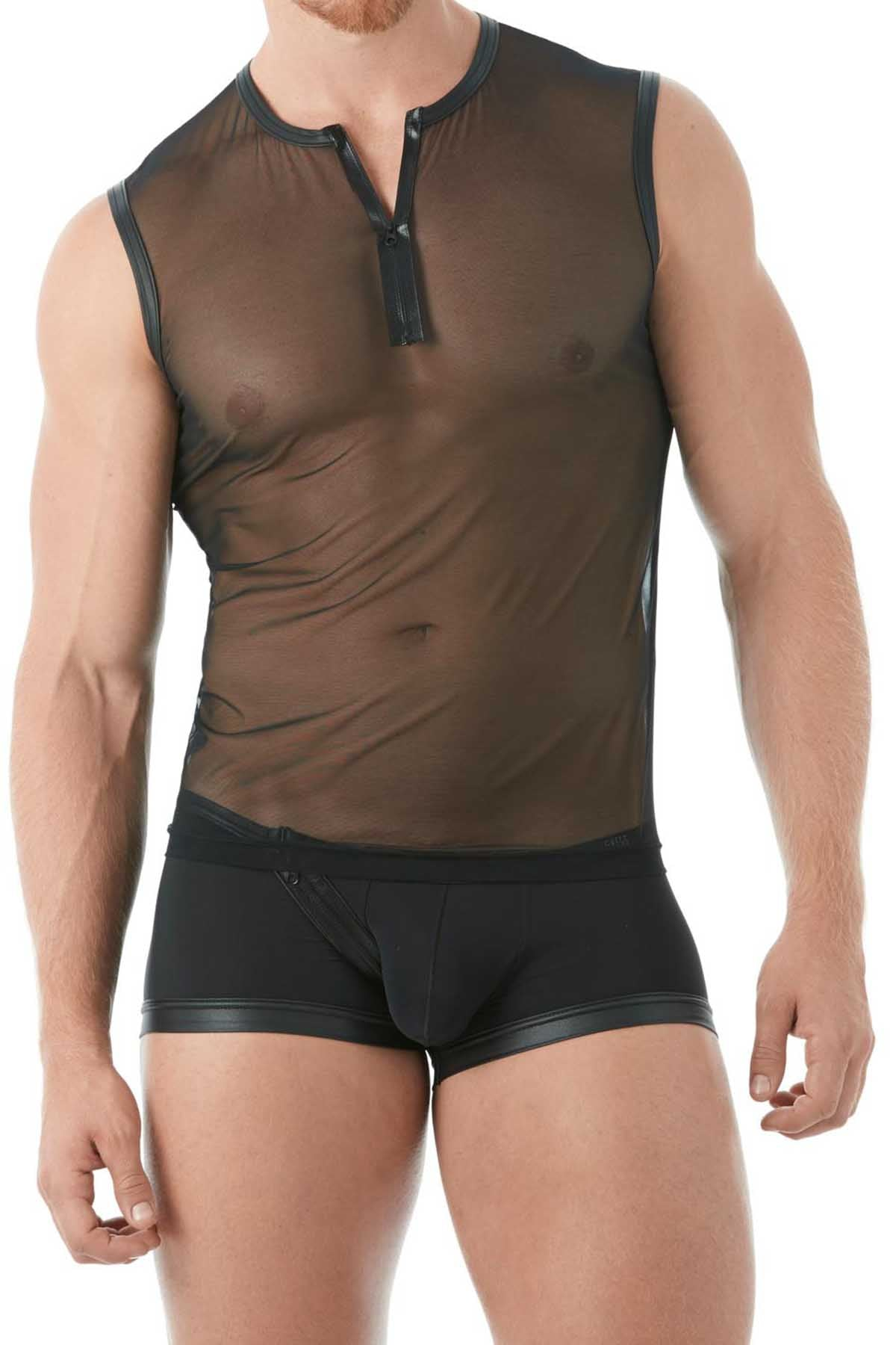 Gregg Homme Black Break-In Muscle Mesh Shirt
