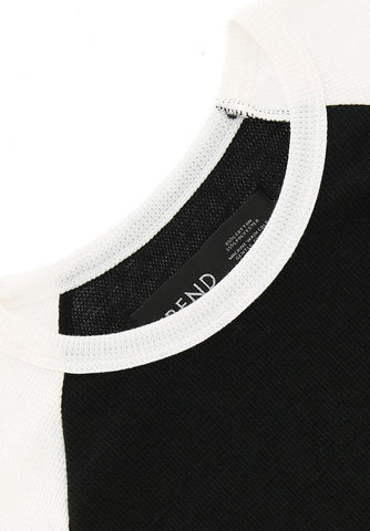 Trend Black/White Waffle Tee
